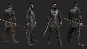 viking warrior 3d model