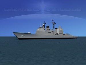 ticonderoga class cruiser 3d max