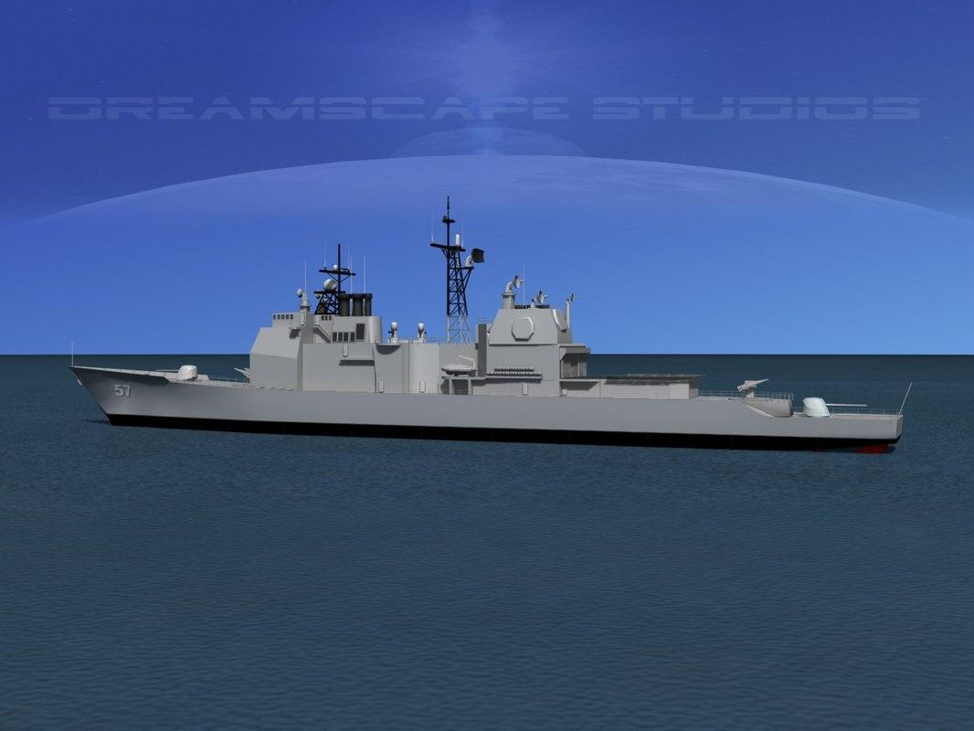 3ds ticonderoga class cruiser