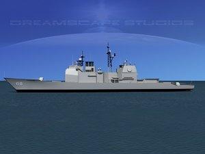 3d model ticonderoga class cruiser