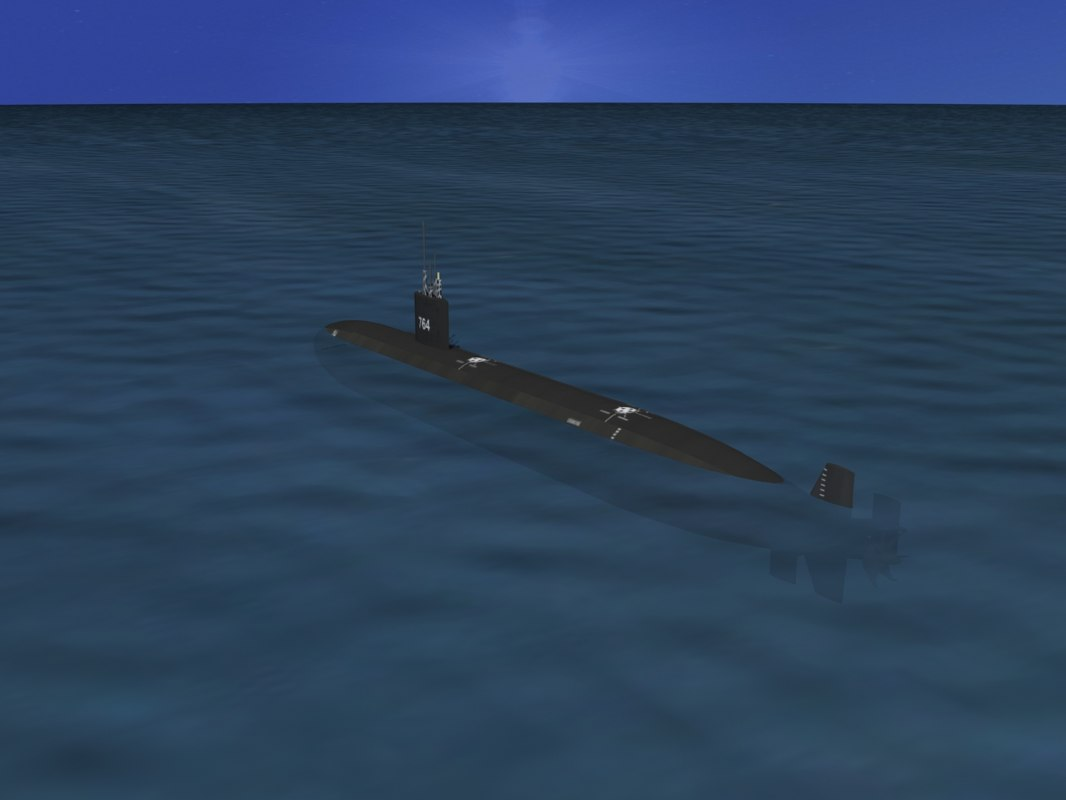 ship los angeles class submarine 3d model