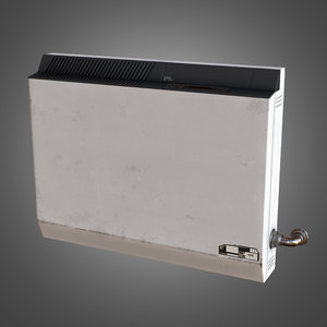 3d model indoor wall heater air