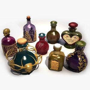 3d magic potions model