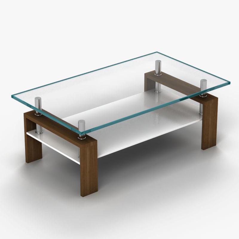 coffee table 3d obj