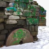 3d ruins graffiti - 1 model