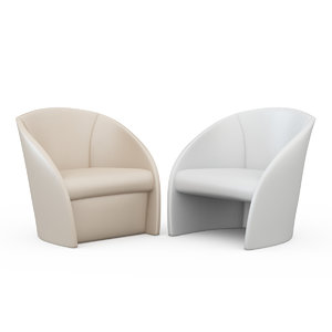 3d model of armchair intervista