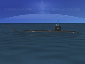 3d ship los angeles class submarine model