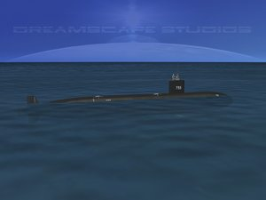 3d 3ds ship los angeles class submarine