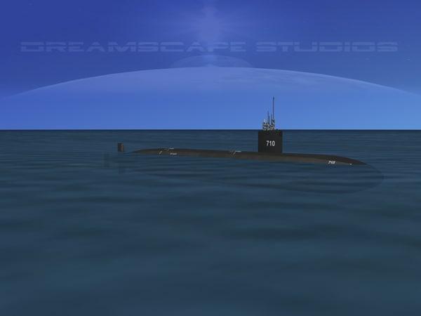 ship los angeles class submarine 3d 3ds