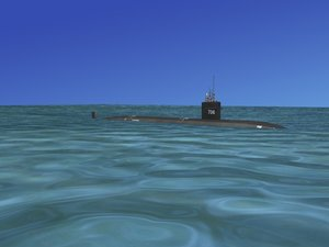 3d model of ship los angeles class submarine