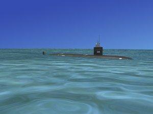 ship los angeles class submarine 3d ma