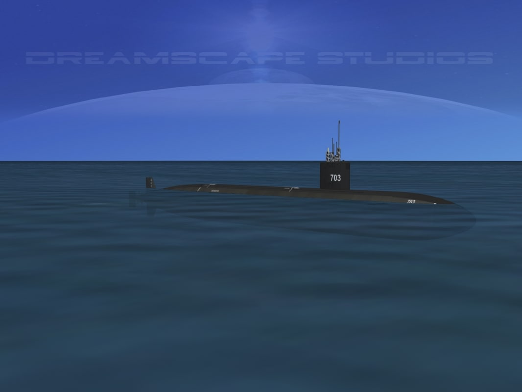 dwg ship los angeles class submarine