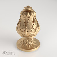 decorative finial 3d model