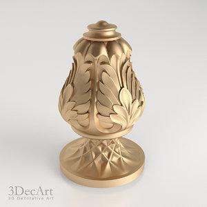 decorative finial 3d model