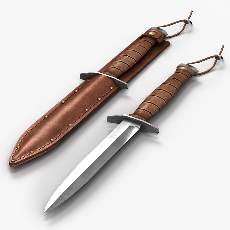 army dagger 3d model