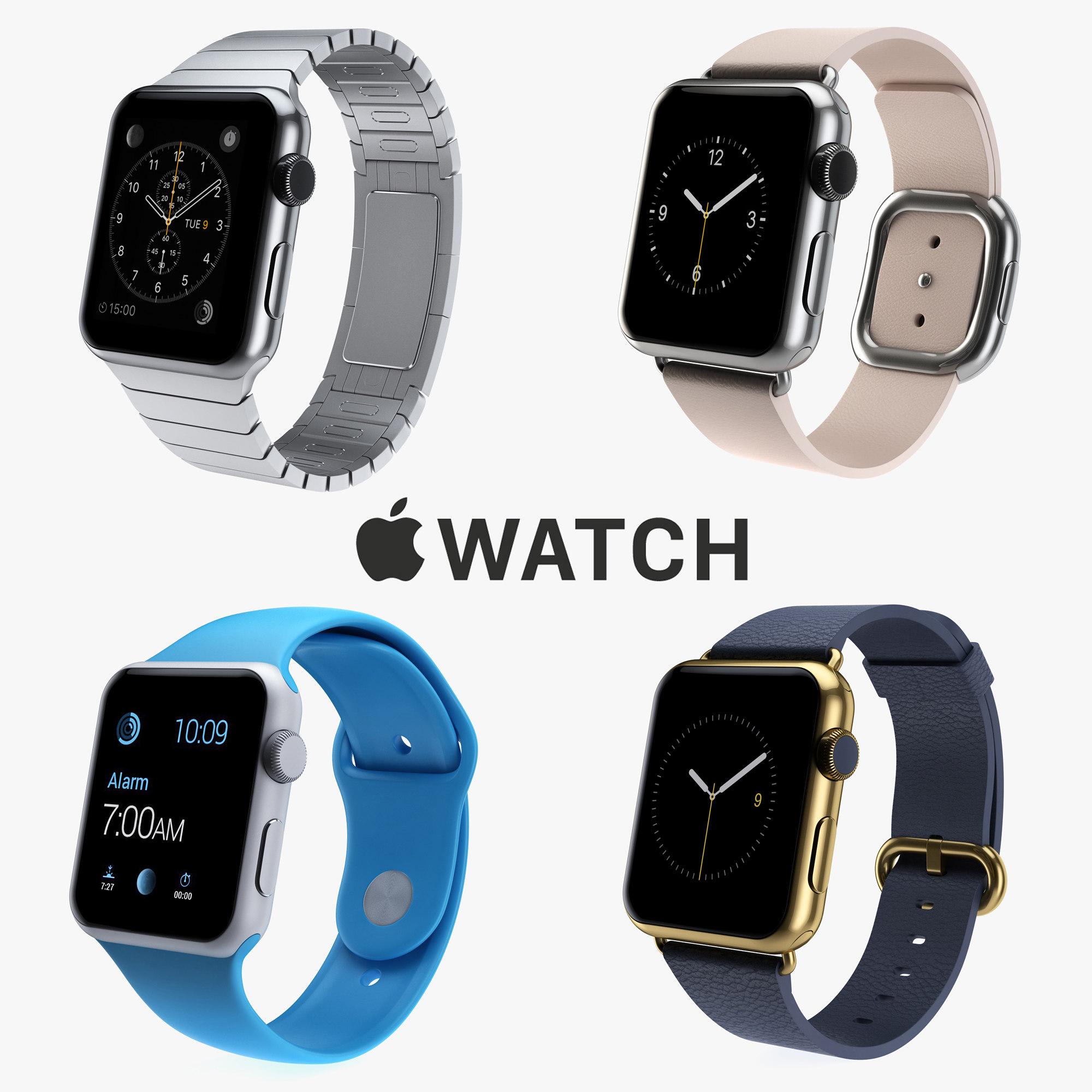 3d apple iwatch watch model