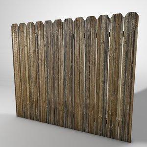 3d model fence segment