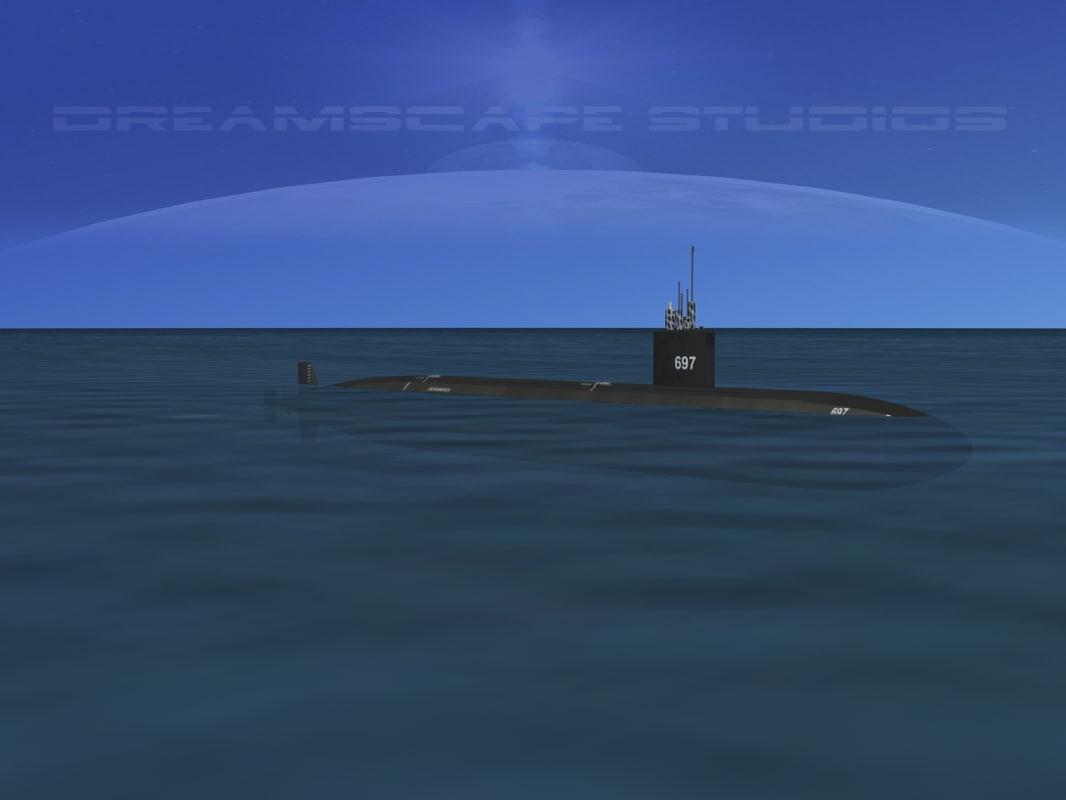 3d ship los angeles class submarine model