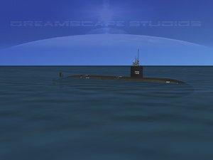 3d ship los angeles class submarine