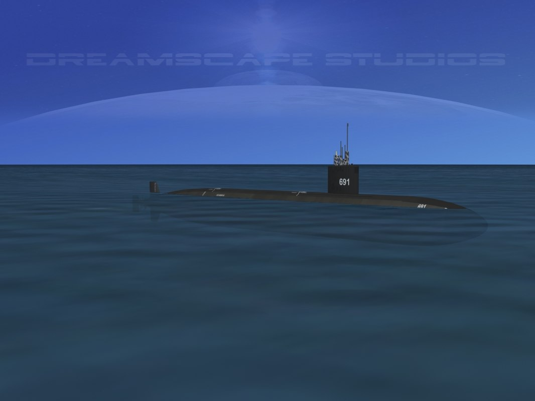 3d model ship los angeles class submarine