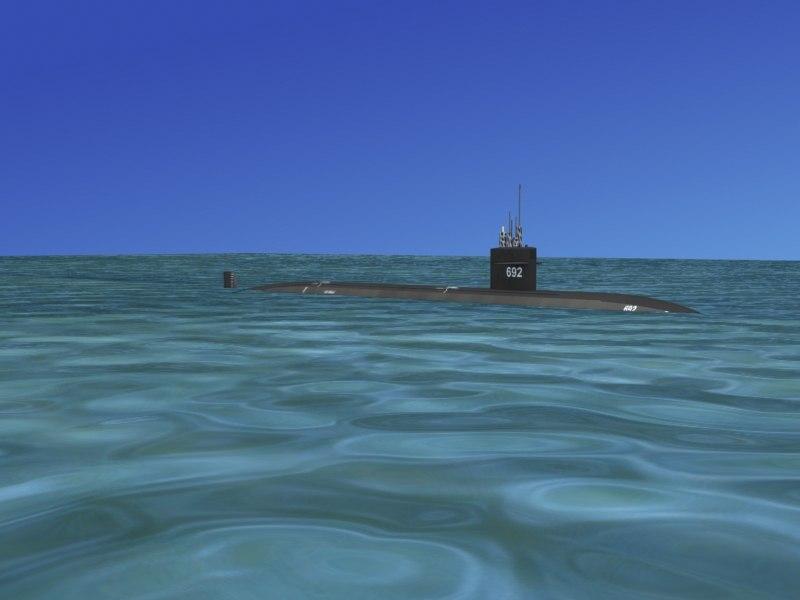 ship los angeles class submarine obj