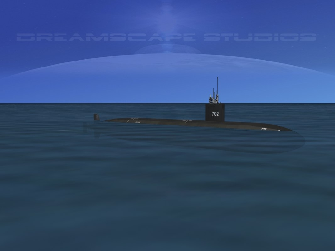 ship los angeles class submarine 3ds