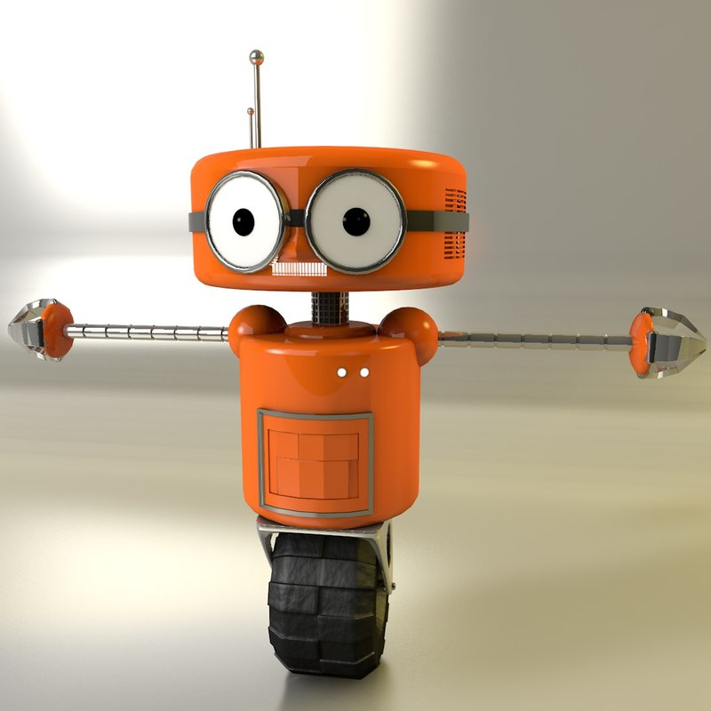 robot 3d c4d