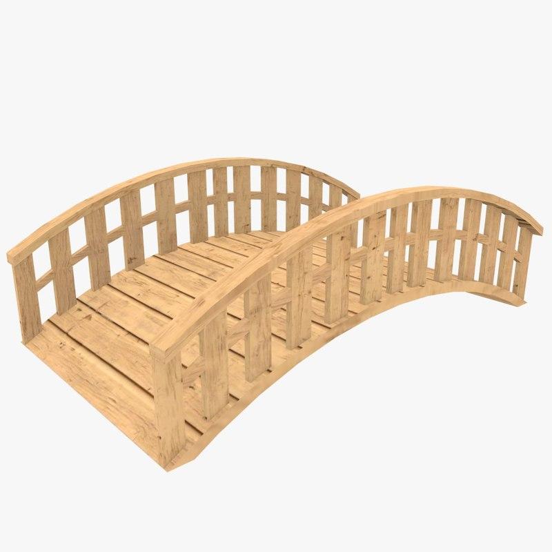 3d ready wooden bridge