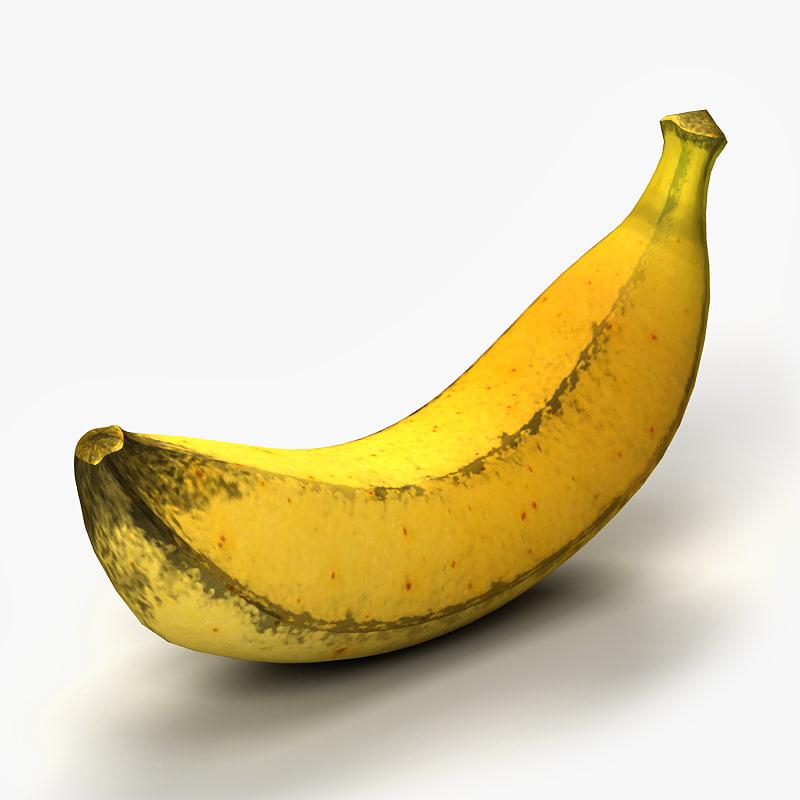 3d model banana