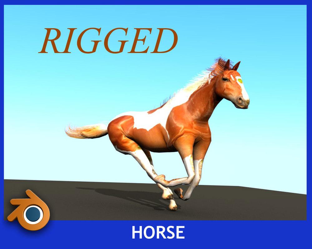 3ds max horse