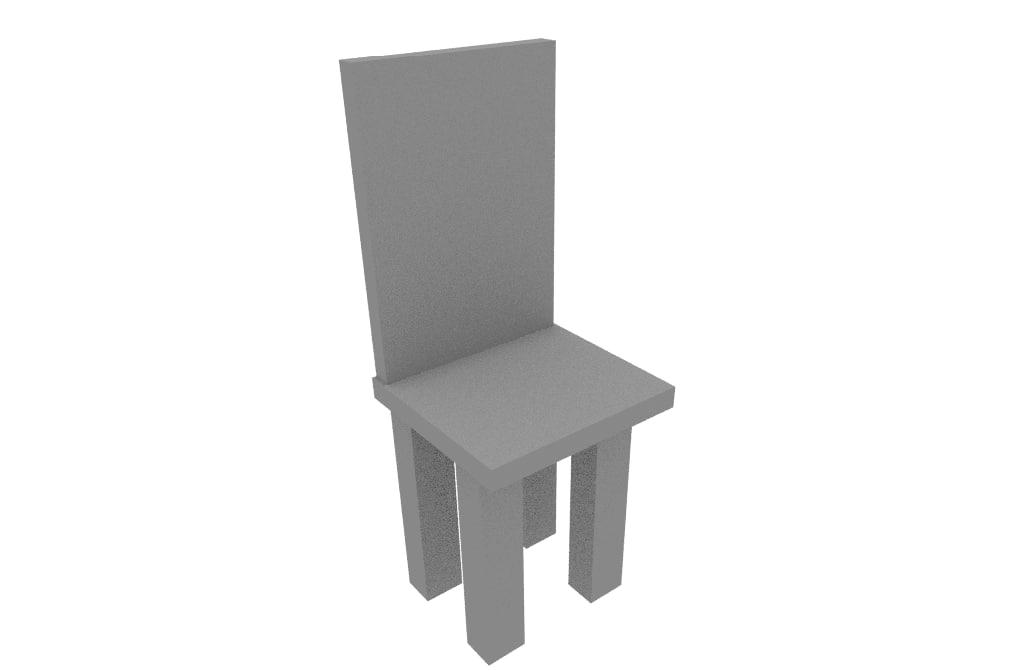 free modern chair 3d model