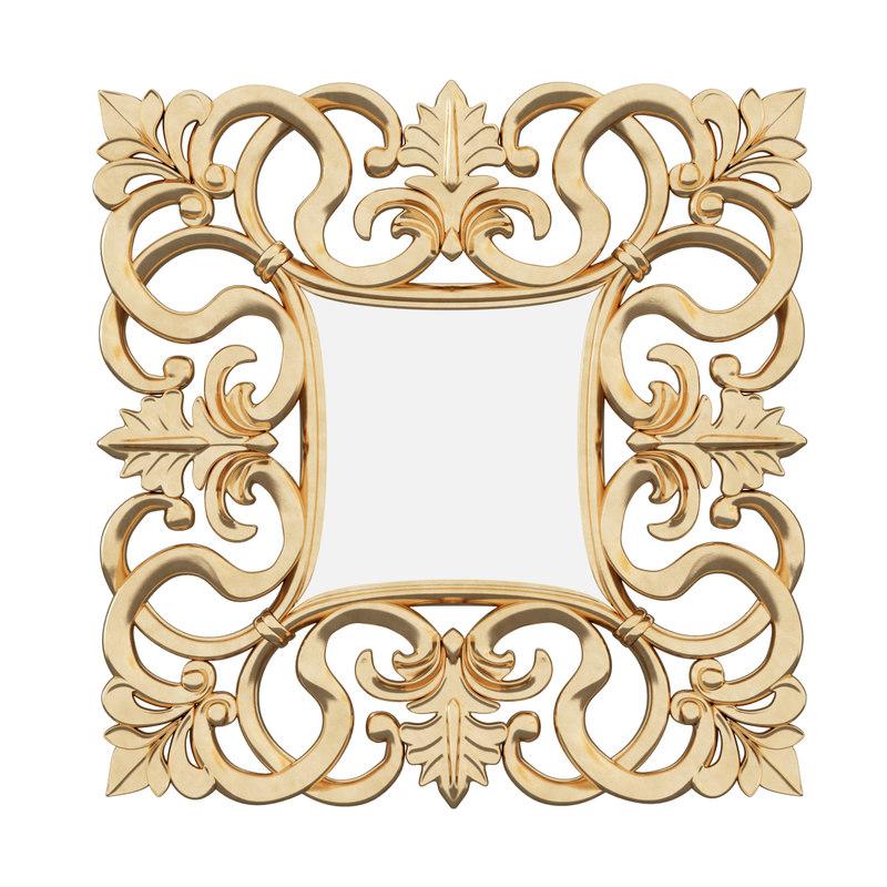3d mirror italian baroque model