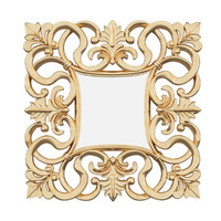 3d mirror italian baroque model