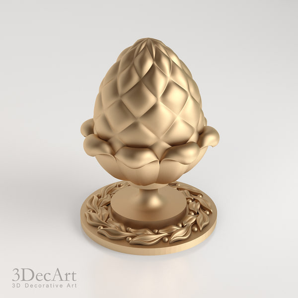 decorative finial knob 3d model