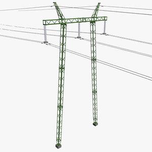 3d voltage power line