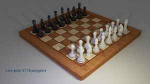 chess ches 3d model