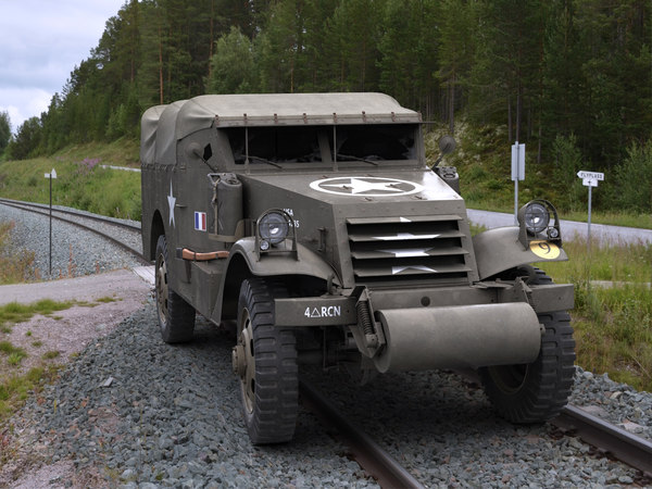 m3a1 scout car 3d model