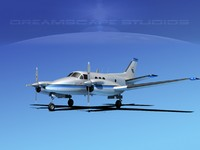 3d beechcraft e90 king air
