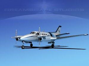 beechcraft king air 3d model