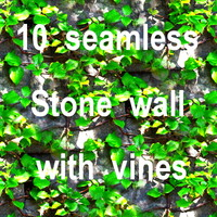 Stone Wall With Vines Collection 1