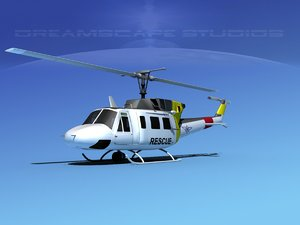 3ds uh1-n bell uh-1n helicopter