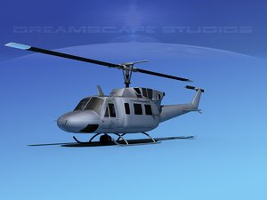 3d model of uh1-n bell uh-1n helicopter