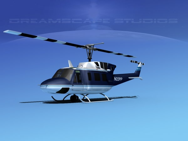 uh1-n bell uh-1n helicopter 3d max