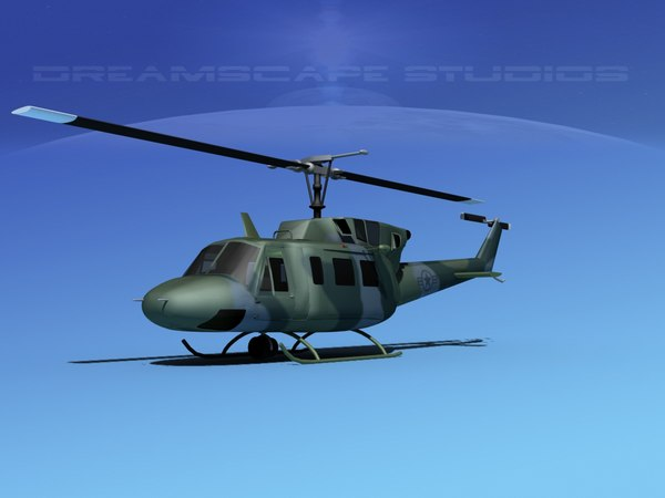 max uh1-n bell uh-1n helicopter