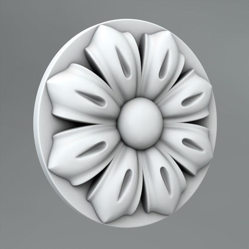 3ds max classical decoration ornamental