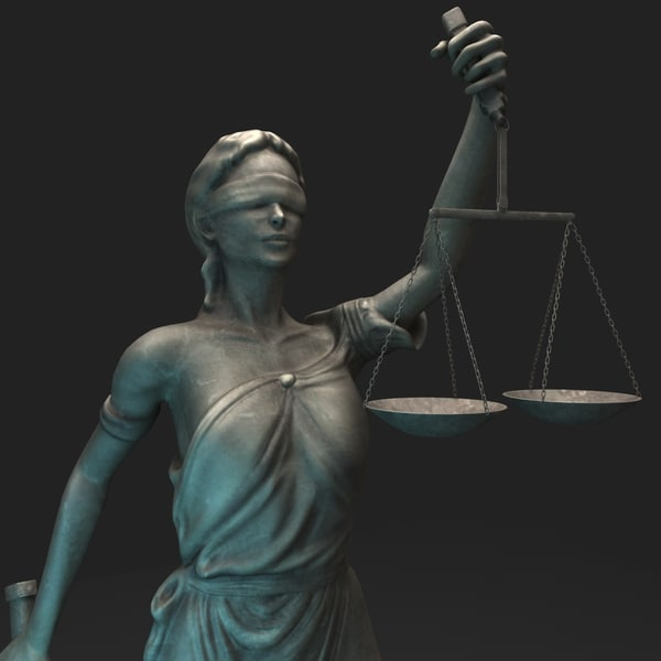 lady justice themis 3d max