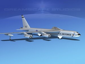3d model stratofortress boeing b-52 bomber