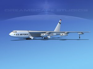 3d dxf stratofortress boeing b-52 bomber