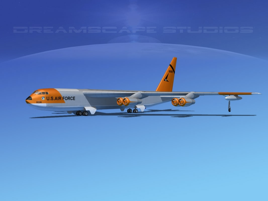 3d model stratofortress boeing b-52 bomber