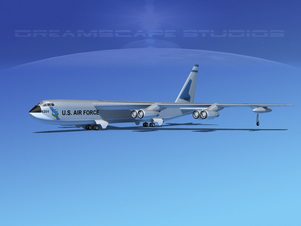 stratofortress boeing b-52 bomber 3d 3ds